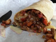 The Patron burrito at Filibertos.  A heart attack stuffed in a tortilla.