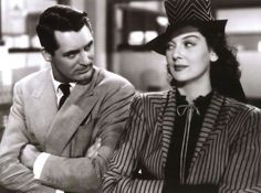 Cary Grant and Rosalind Russell in His Girl Friday 1949