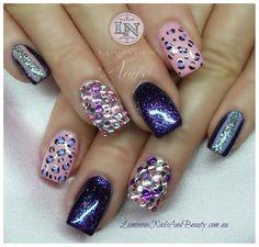 Cute multi color/multi design junk nail