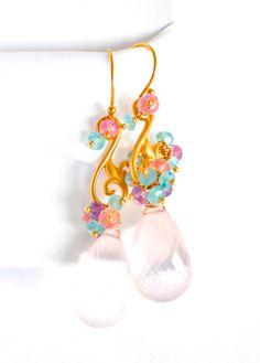 Brazilian Rose Quartz Earrings