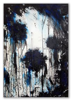 black and blue by JoanneKimDesigns on Etsy Blue Abstract Painting, Moose Art, Animals, Etsy, Vintage, Black, Art, Animales, Animaux