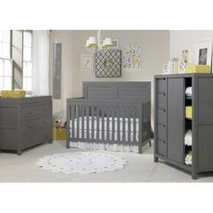 94fb627438d Ti Amo Castello RTA Chifferobe Wire Brushed Armoire Color  Weathered Gray  Nursery Room