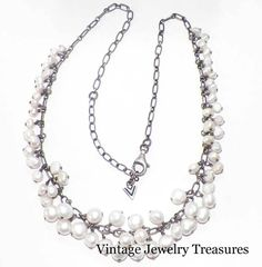 Silpada Sterling Silver N1723 Freshwater Pearl Drop Necklace New in Box