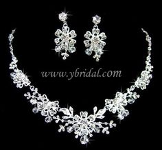 CLICK IMAGE TWICE FOR PRICING AND INFO:) #wedding #bridalaccessories #weddingjewerlysets #bridaljewelrysets #weddingideas Gorgeous Alloy with Clear Crystal Wedding Bridal Jewelry Set JAXY0012