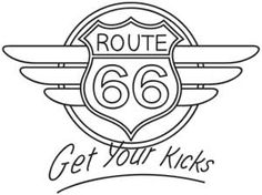 Route 66 | Urban Threads: Unique and Awesome Embroidery Designs