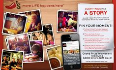 Repin this Pin and Share your table's story with us on Pinterest during our contest! #MoreLifeHappensHere