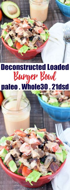 I made this Deconstructed Loaded Burger Bowl using the Special Sauce from my eBook, Get Sauced, but you can top this with...
