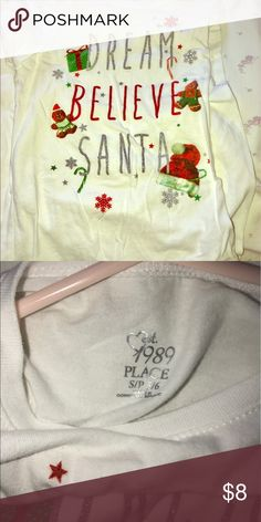 Santa long sleeved tee Long sleeved Santa tee from The Children's Place The Children's Place Shirts & Tops Tees - Long Sleeve