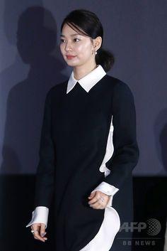 韓国・ソウル(Seoul)で行われた、映画『私の愛、私の花嫁(My Love, My Bride)』のメディア試写会に臨む、女優のシン・ミナ(Shin Min-a、2014年9月24日撮影)。(c)STARNEWS ▼26Sep2014AFP|24年ぶりのリメーク映画『私の愛、私の花嫁』、 試写会開催 http://www.afpbb.com/articles/-/3027125 #Shin_Min_a