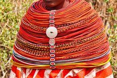 Africa | Amazing Rendille Woman's necklace. Marsabit, Kenya | © Rita Willaert