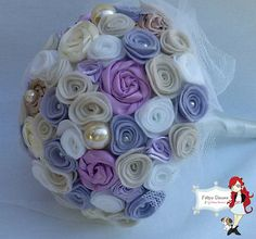 Felt flower bouquet.  Would look pretty as a ball covered with flowers