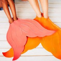 Mermaid tail flippers! Want for swimming in summer! #product_design