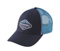 Patagonia Fitz Roy Crest LoPro Trucker Hat - Navy Blue w Lite Electron Blue 55d9247c2a2