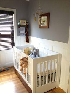 Project Nursery - Boy Chevron Yellow and Gray Nursery Room View