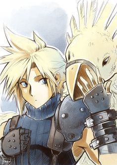 Cloud and chocobo.