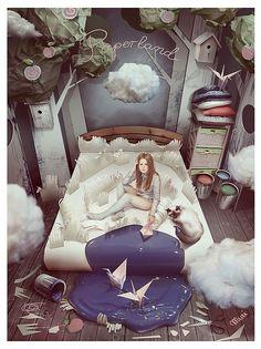 Various Cool Artworks by Kidy-Kat - cat art Art And Illustration, Digital Collage, Collage Art, Digital Art, Surreal Photos, Surreal Art, Fantasy Kunst, Fantasy Art, Whimsical Art