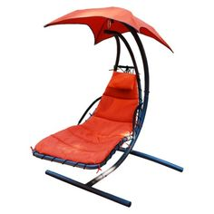Cloud 9 Hanging Patio Lounger & Stand Set