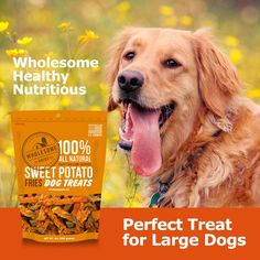 Wholesome Pride Pet Treats Sweet Potato Chews Dog Treats Grain Free All Natural Vegetarian Made in the USA -- You can get additional details at the image link. (This is an affiliate link) Pet Treats, Healthy Dog Treats, Dog Chews, Dog Snacks, Large Dogs, Grain Free, Sweet Potato, Dog Food Recipes