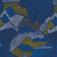 151712 Olympus | Navy Quilter's Cotton from Lore by Leah Duncan for Cloud9 Fabrics