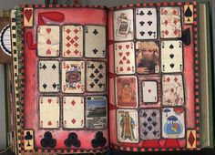 """""""Altered Journal"""" ~ I have always thrown away cards that are not a complete deck. What an awesome idea."""