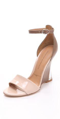 Sigerson Morrison Dali Colorblock Wedge Sandals