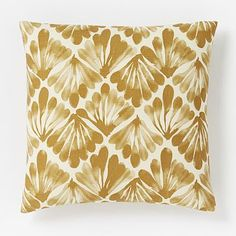 Fanned Diamond Silk Pillow Cover | Need these for my couch!! Perfect shade of goldy yellow