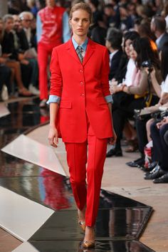 Trussardi Spring 2014 Ready-to-Wear Collection I like the contrast between shapes and silhouette with strong colors