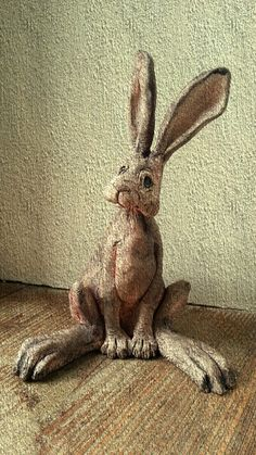 great feet idea Brown hare. Hank and Kath ceramics.