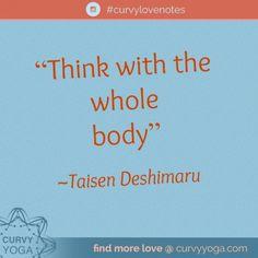 Think - Curvy Yoga Love Notes, Namaste, Self Love, Curvy, Yoga, Healthy, Life, Inspiration, Ideas