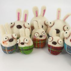 Needle Felting Rabbit Kit (K) - Woolbuddy