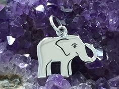 Elephant Charm, Baby Elephant Charm, Sterling Silver Elephant Charm, Pachyderm Charm, Jewelry Supplies, PS01251 You will receive one adorable sterling silver baby elephant charm. This is such a sweet