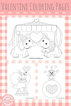 3 {Precious} Valentines Coloring Pages