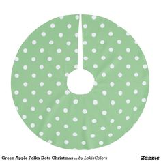 Green Apple Polka Dots Christmas Tree Skirt