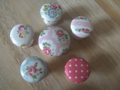 These are wooden handles that are painted white and then decorated with a choice of Cath Kidston prints. I have been making and selling these for some time now ON Ebay and always get good feedback (u...