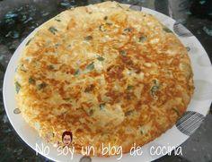 No soy un blog de cocina: TORTILLA DE PATATAS y CALABACÍN