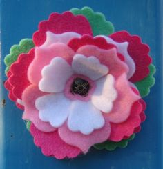 Chantell's awesome felt flowers