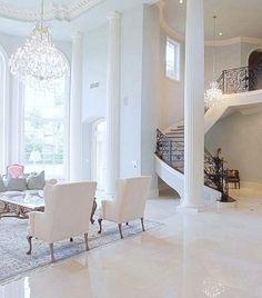 All White! White Marble Floors!