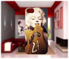 Marilyn Monroe Lakers case For iPhone 4/4S iPhone 5 Galaxy S2/S3/S4 | GlobalMarket - Accessories on ArtFire