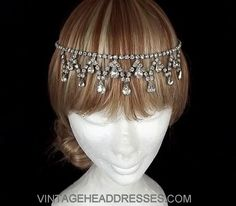 Great Gatsby Headpiece  Vintage Forehead by VintageHeaddresses, £150.00