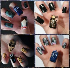 Doctor Who Nail Art Collection :)