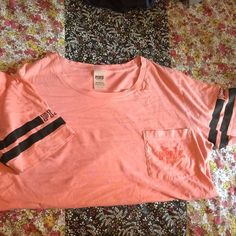PINK Tshirt Worn once. No holes or stains. PINK Victoria's Secret Tops Tees - Short Sleeve