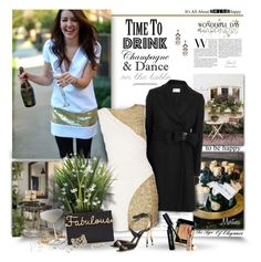 """""""Time To Drink Champagne And Dance On The Table"""" by thewondersoffashion ❤ liked on Polyvore featuring RED Valentino, Quiz, Charlotte Olympia, Jimmy Choo, Guerlain, Bobbi Brown Cosmetics, Elizabeth Arden, Alexis Bittar and Lulu Frost"""