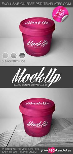 Free Plastic Container Packaging Mockup | Free PSD Templates | #free #photoshop…