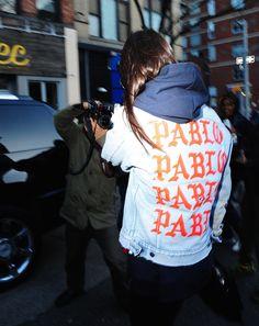 Kendall Jenner Works Kanye's Pablo Jacket Into Her Model Uniform