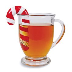 candy cane tea infuser   ..how amazing would it be to have peppermint tea  with this!