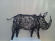 A Wirework Rhino sculpture by Linda Hoyle. Buy Black Rhino, Sculpture by Linda Hoyle on Artfinder. Discover thousands of other original paintings, prints, sculptures and photography from independent artists.