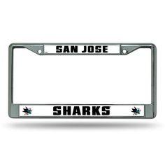 San Jose Sharks Chrome License Plate Frame #SanJoseSharks