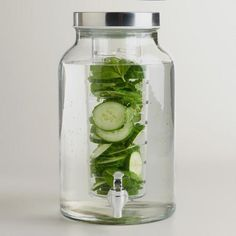 One of my favorite discoveries at WorldMarket.com: Glass Infuser Dispenser