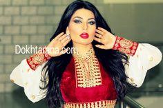 #afghan #dress #white #gold #red #singer #aryana #saeed