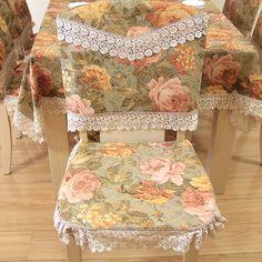 Yeni varış moda rustik masa örtüsü havlu kapak masa örtüsü yemek masa örtüsü sandalye yastık kapakları